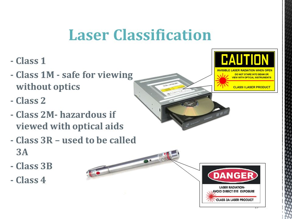 Laser Classification - Class 1