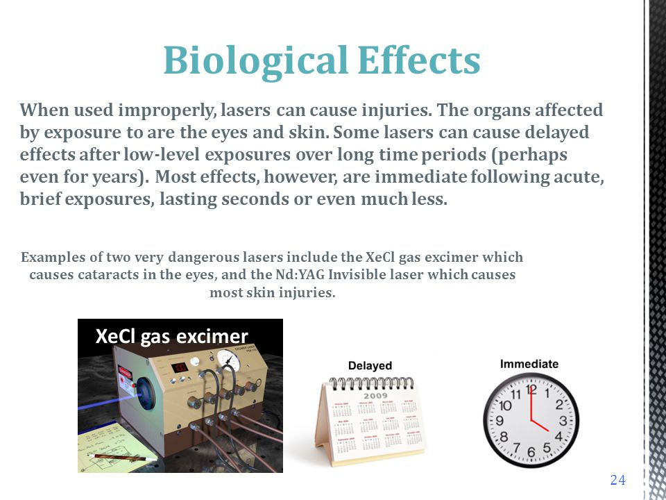 Biological Effects XeCl gas excimer