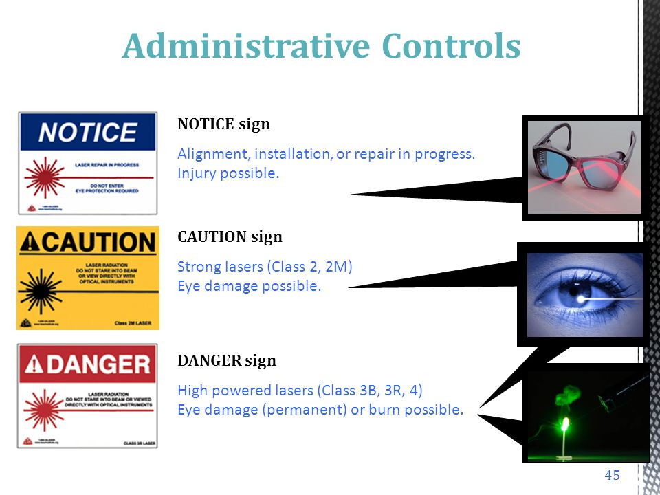 administrative controls Administrative controls (or work practice controls) are changes in work procedures such as written safety policies, rules, supervision, schedules, and training with the goal of reducing the.