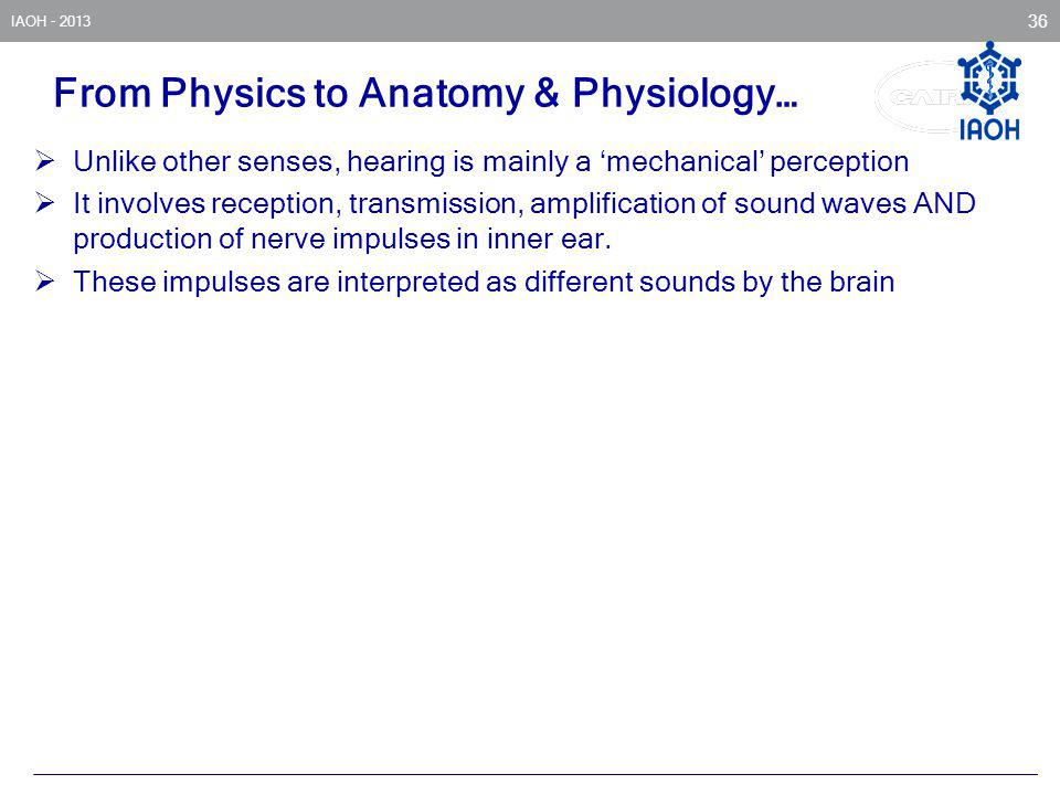 From Physics to Anatomy & Physiology…