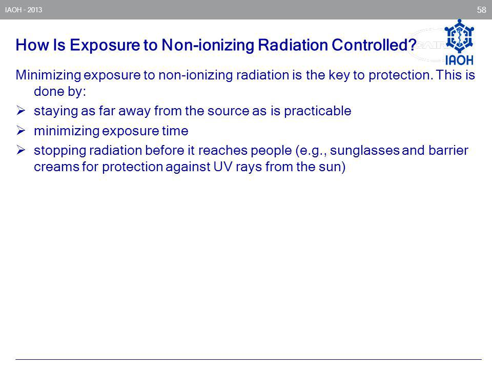 How Is Exposure to Non-ionizing Radiation Controlled