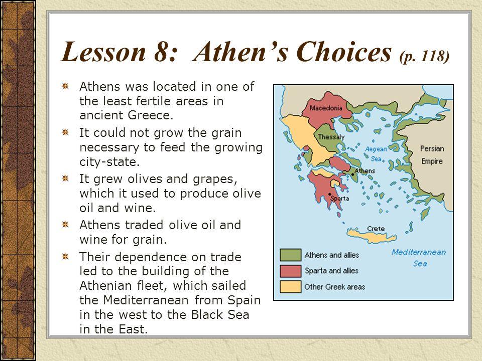 Lesson 8: Athen's Choices (p. 118)