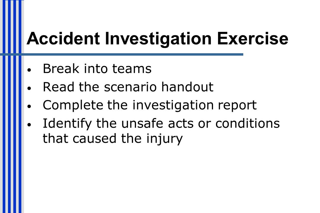 Accident Investigation Exercise