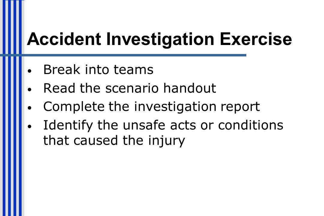 Accident Investigation Exercise