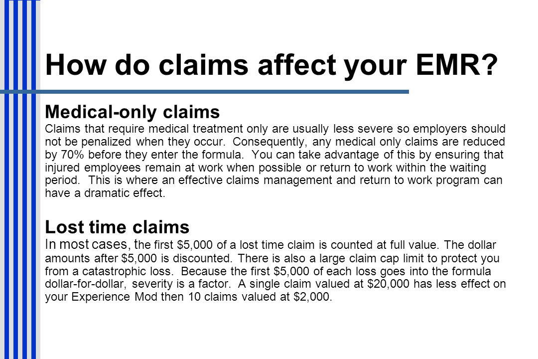 How do claims affect your EMR