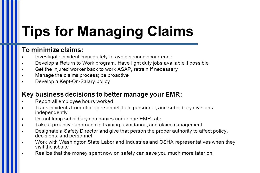 Tips for Managing Claims