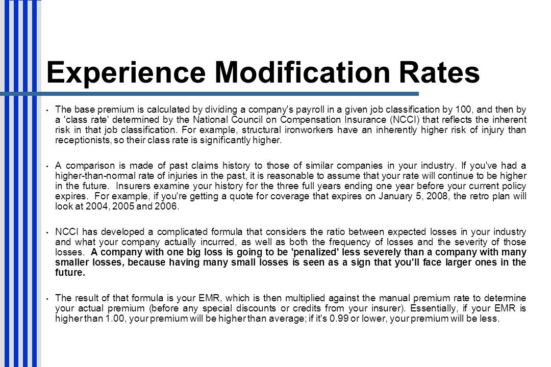 Experience Modification Rates