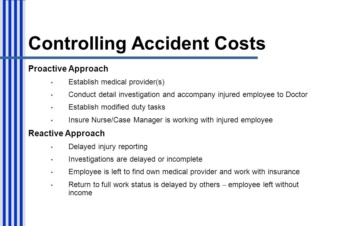 Controlling Accident Costs