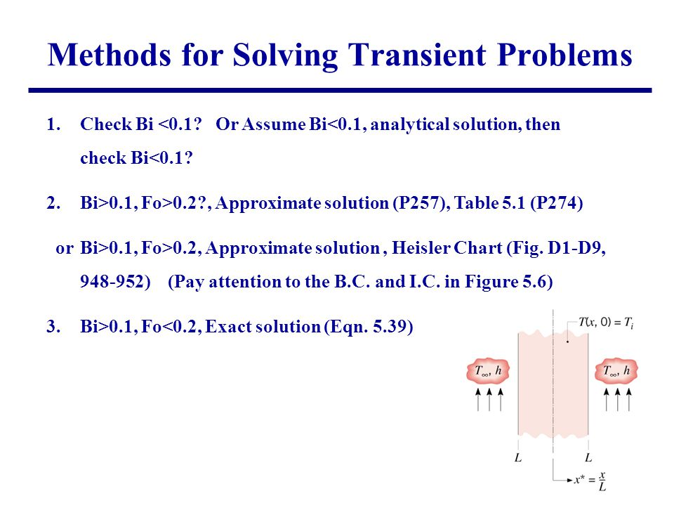Methods for Solving Transient Problems