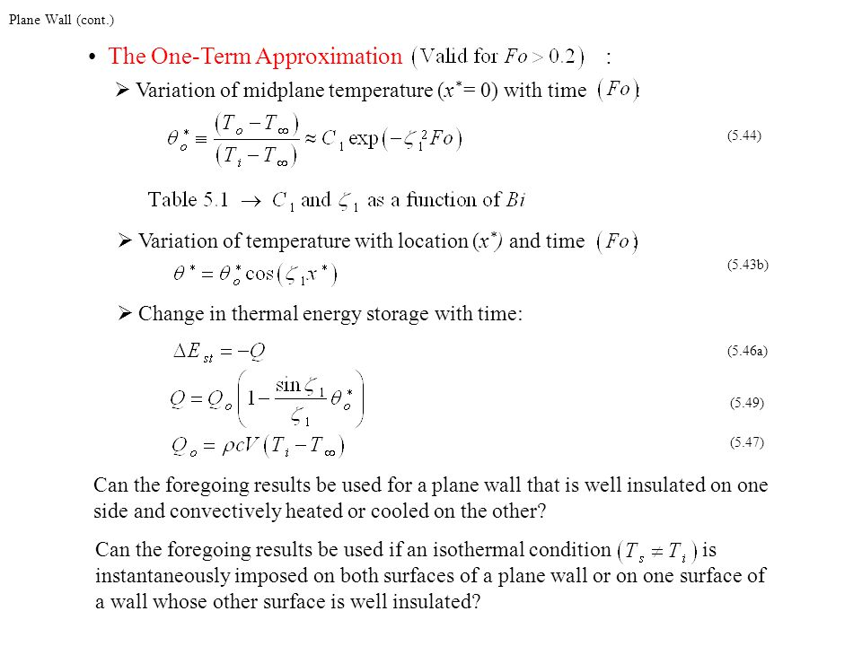 The One-Term Approximation :