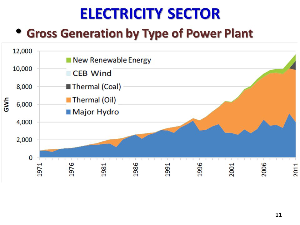 ELECTRICITY SECTOR Gross Generation by Type of Power Plant