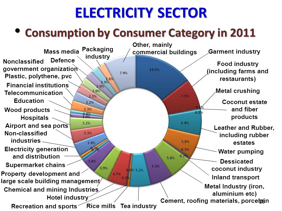 ELECTRICITY SECTOR Consumption by Consumer Category in 2011