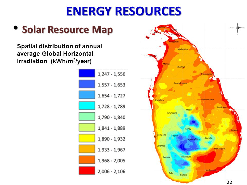 ENERGY RESOURCES Solar Resource Map