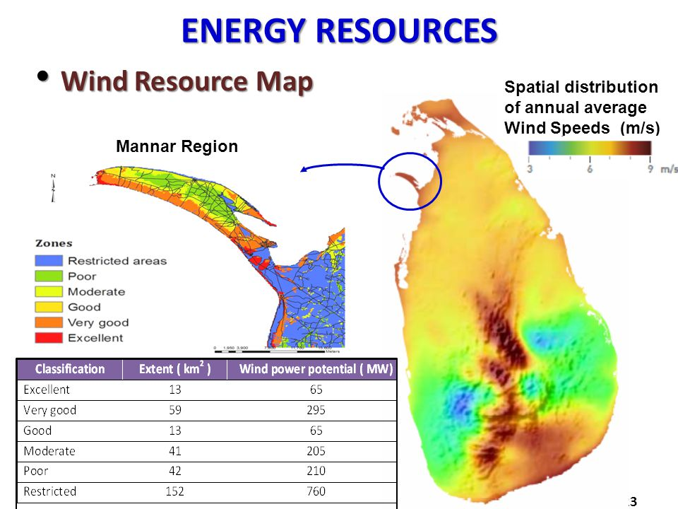 ENERGY RESOURCES Wind Resource Map