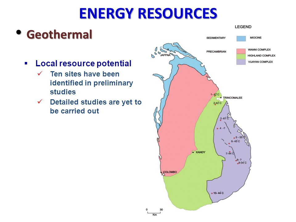 ENERGY RESOURCES Geothermal Local resource potential