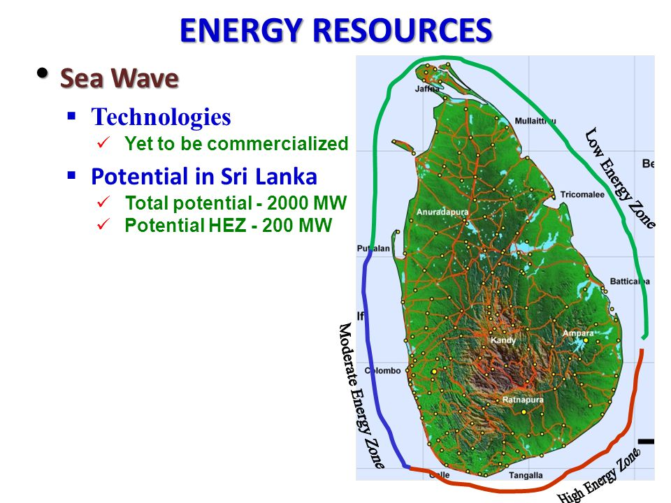 ENERGY RESOURCES Sea Wave Technologies Potential in Sri Lanka