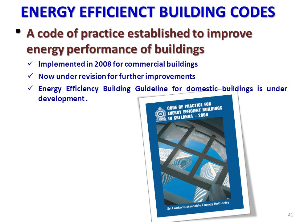 ENERGY EFFICIENCT BUILDING CODES
