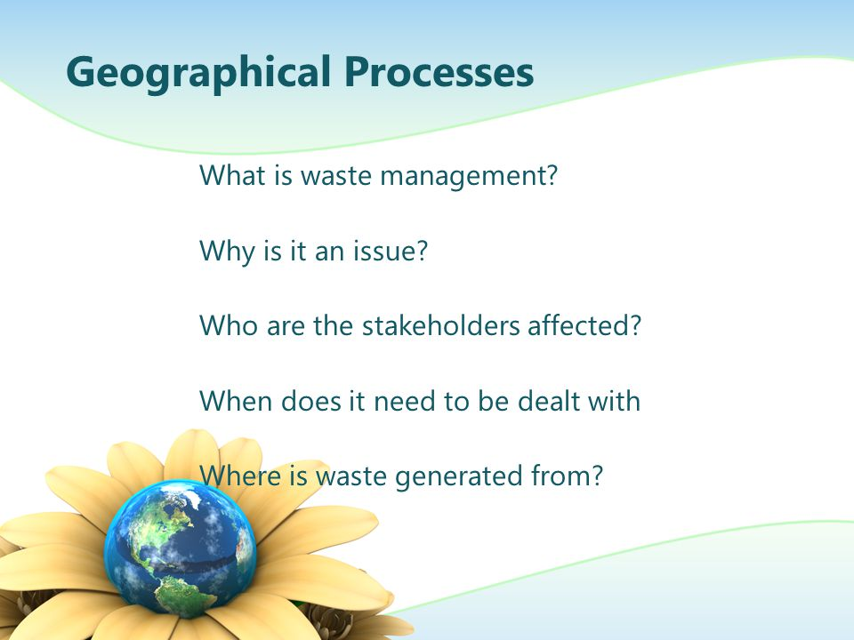 Geographical Processes