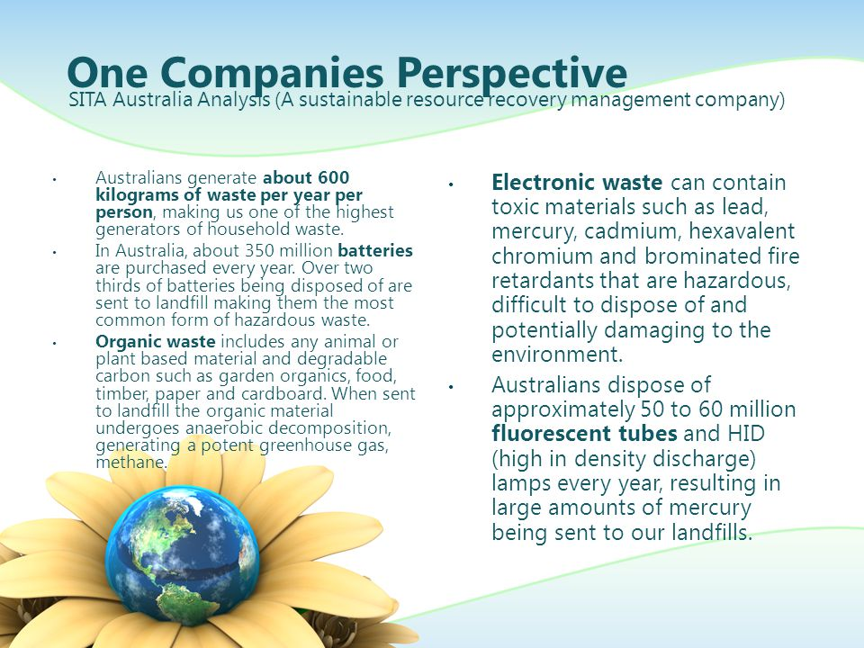 One Companies Perspective