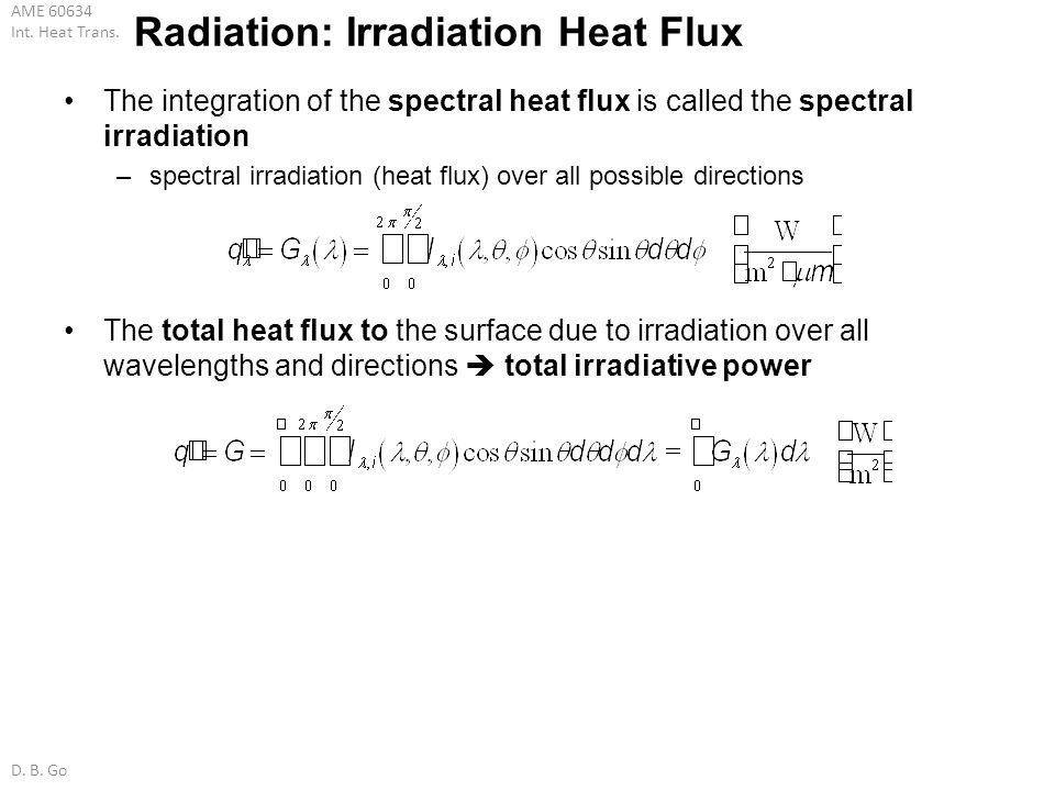 Radiation: Irradiation Heat Flux
