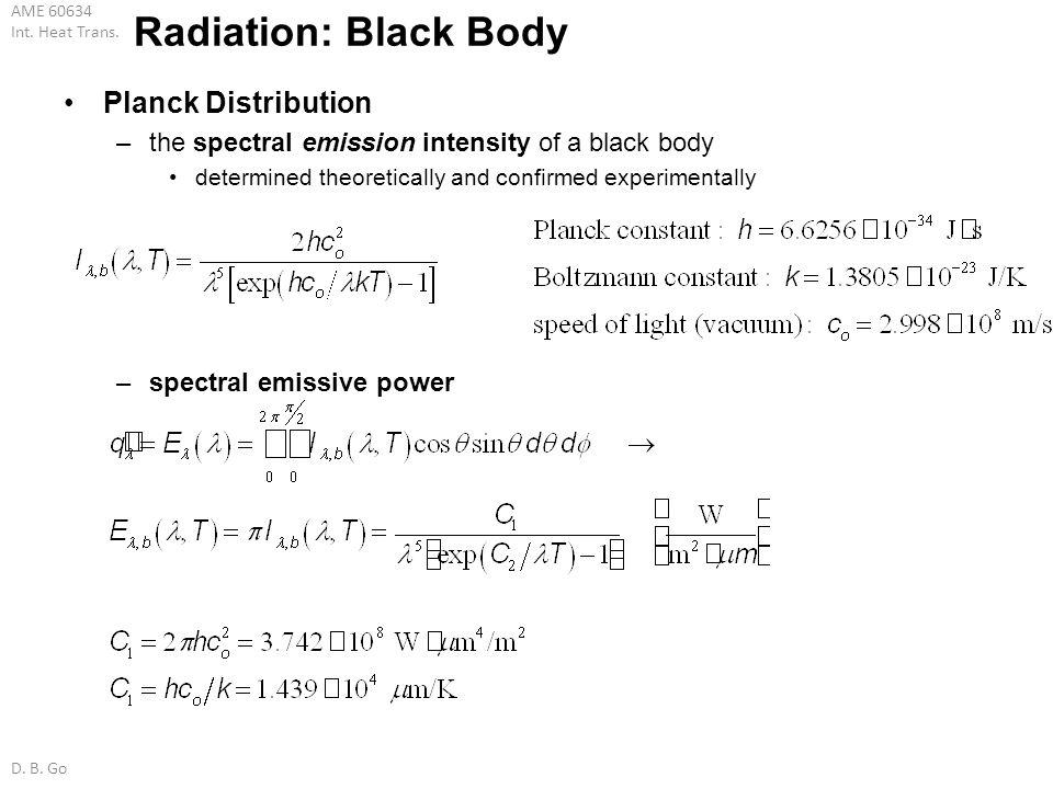 Radiation: Black Body Planck Distribution