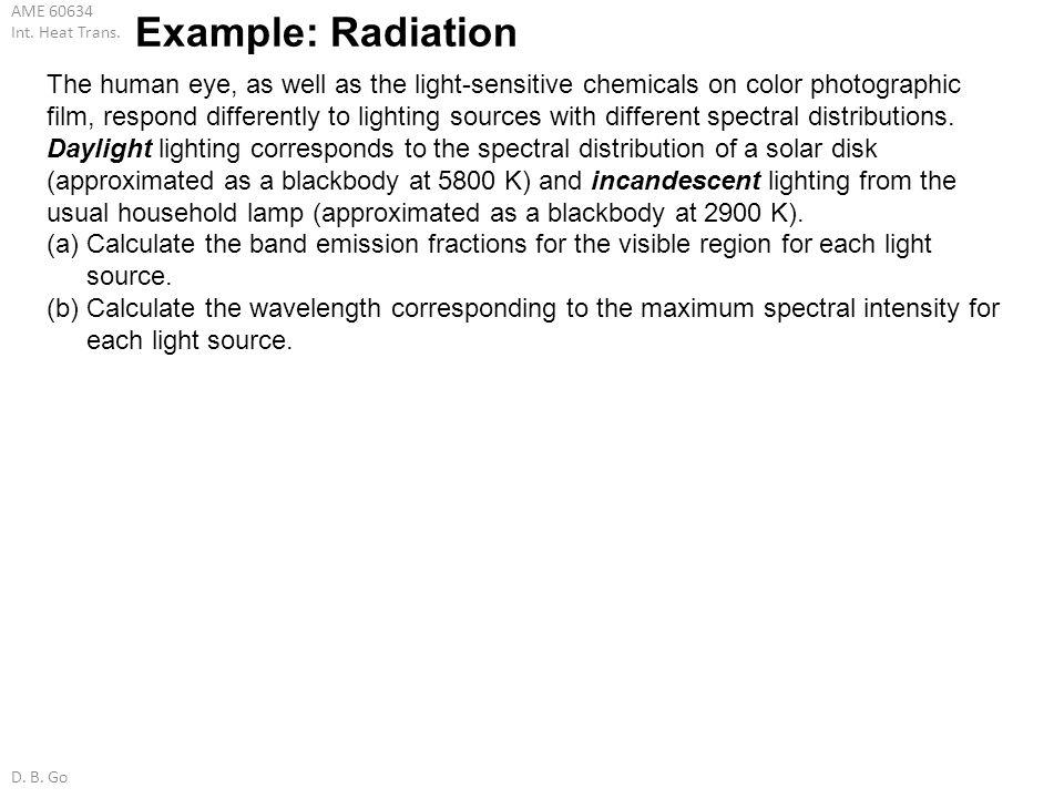 Example: Radiation
