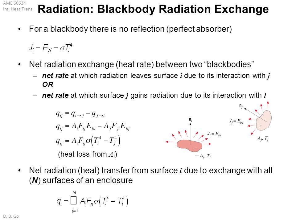 Radiation: Blackbody Radiation Exchange