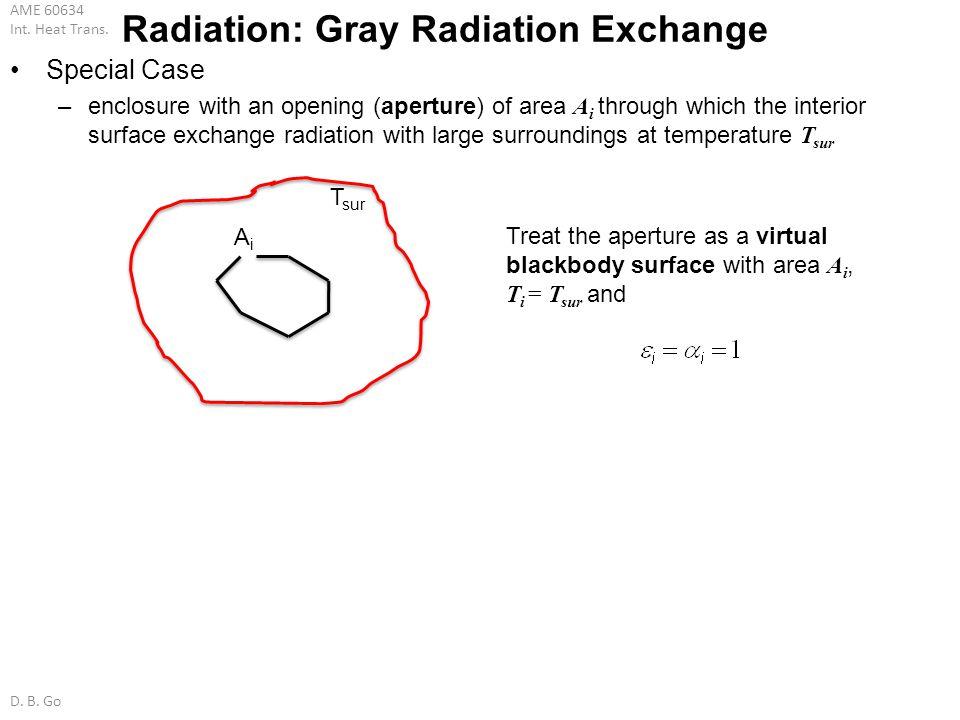 Radiation: Gray Radiation Exchange