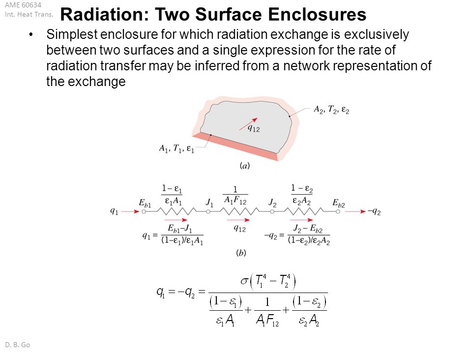Radiation: Two Surface Enclosures