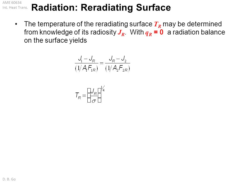 Radiation: Reradiating Surface