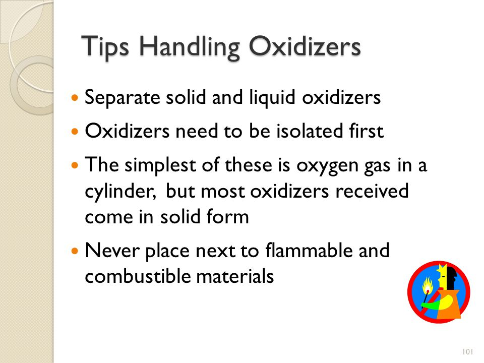 Tips Handling Oxidizers