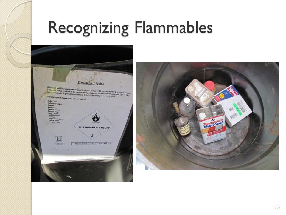 Recognizing Flammables