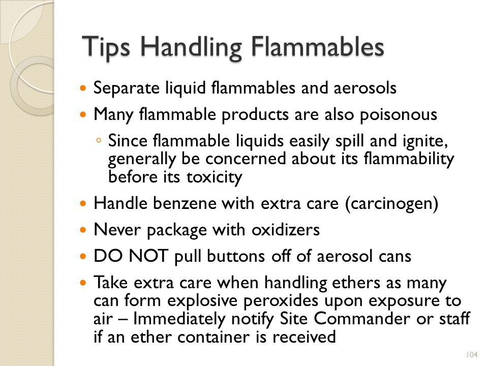Tips Handling Flammables