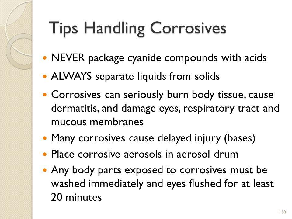 Tips Handling Corrosives