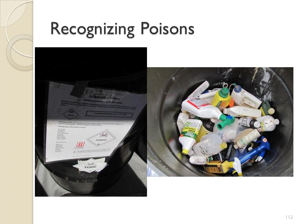 Recognizing Poisons