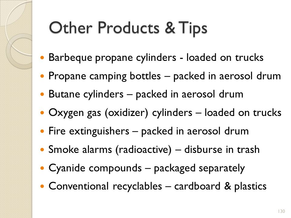 Other Products & Tips Barbeque propane cylinders - loaded on trucks