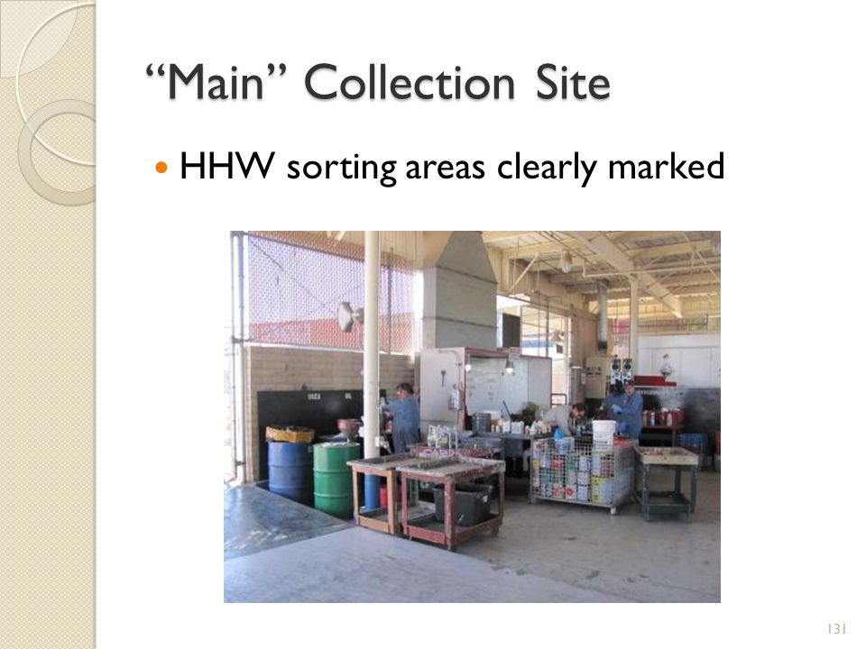 Main Collection Site