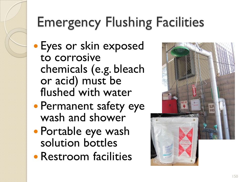 Emergency Flushing Facilities