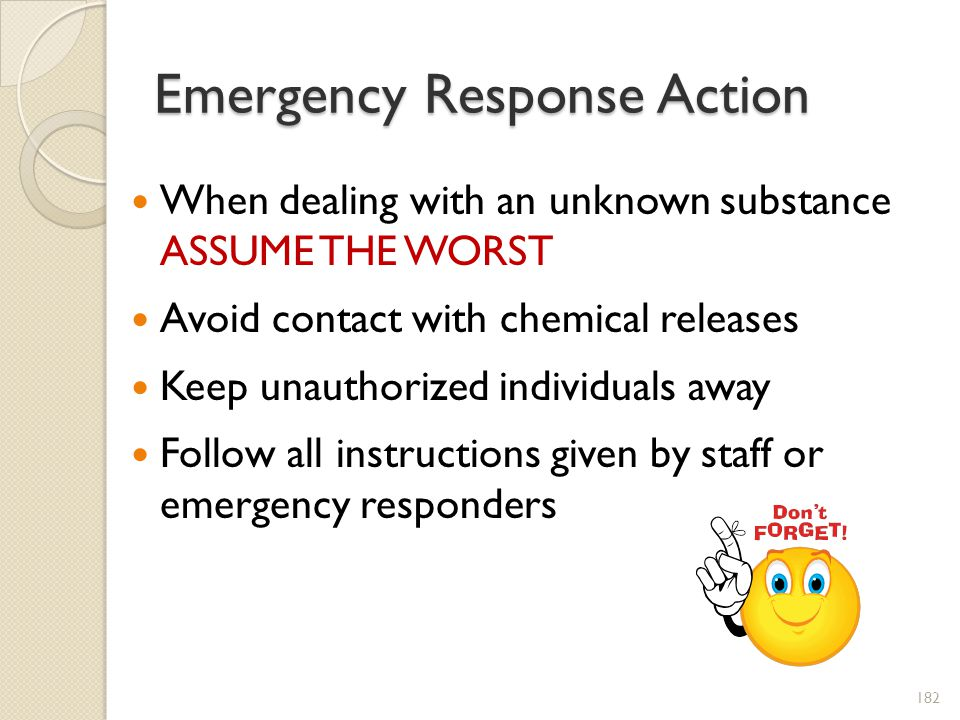 Emergency Response Action