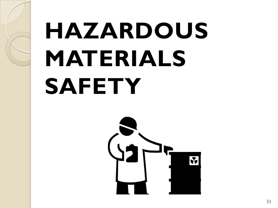 Hazardous Materials Safety