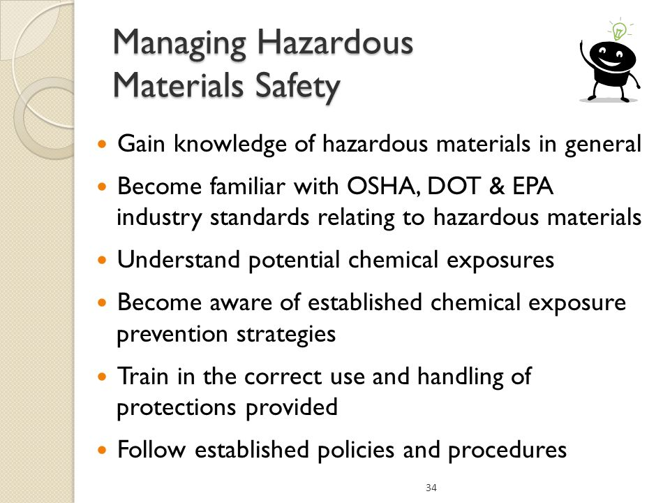 Managing Hazardous Materials Safety
