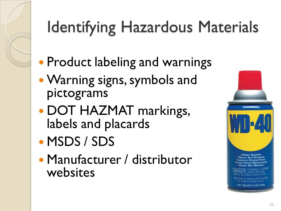 Identifying Hazardous Materials