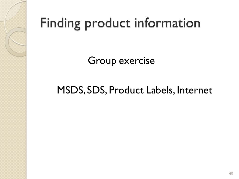 Finding product information
