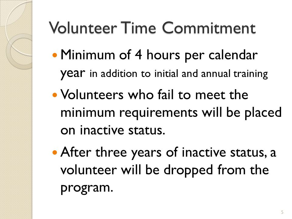 Volunteer Time Commitment