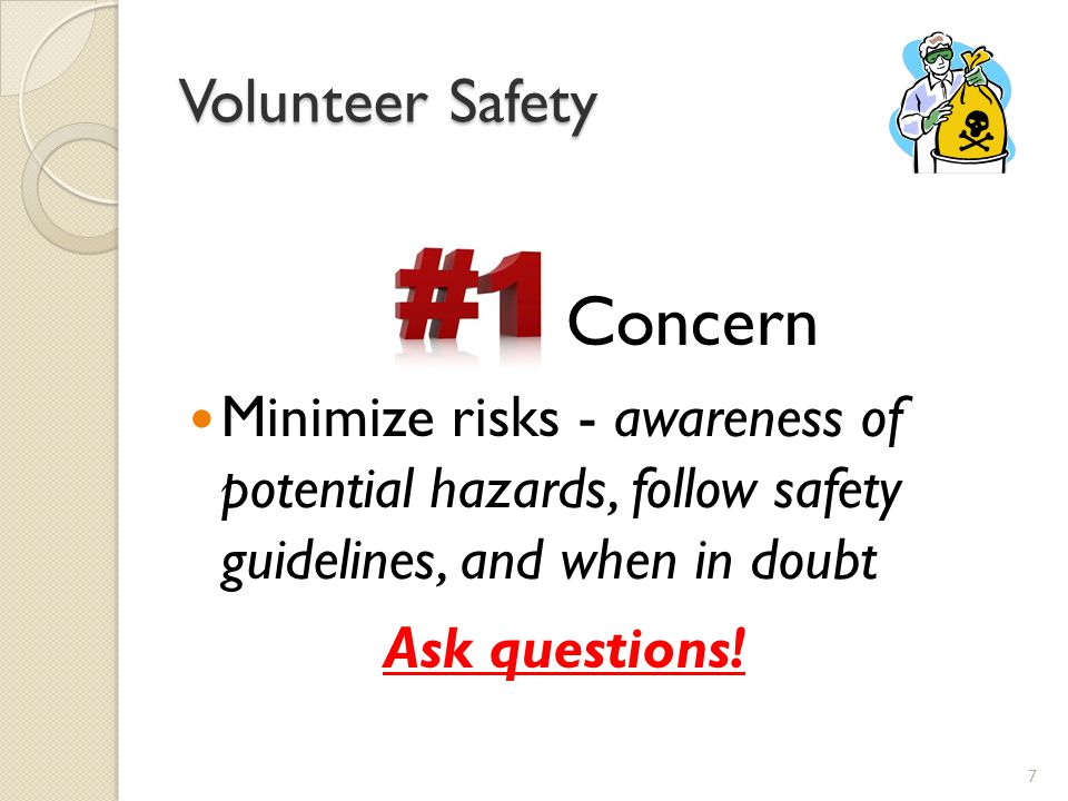 Concern Volunteer Safety