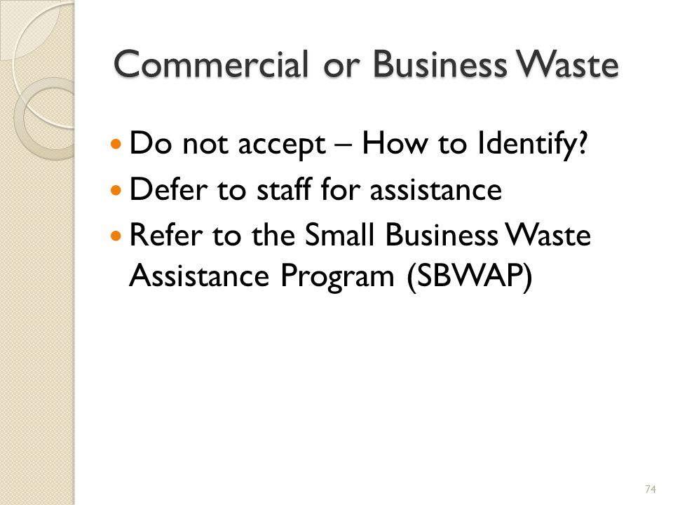 Commercial or Business Waste