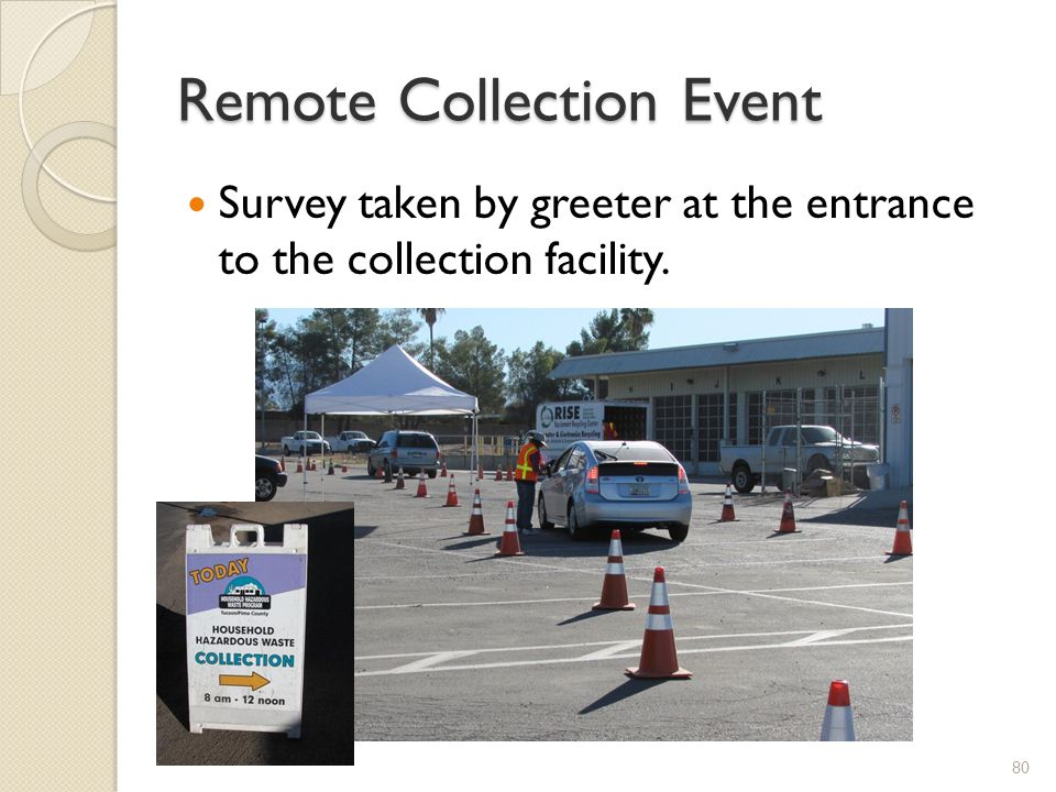 Remote Collection Event