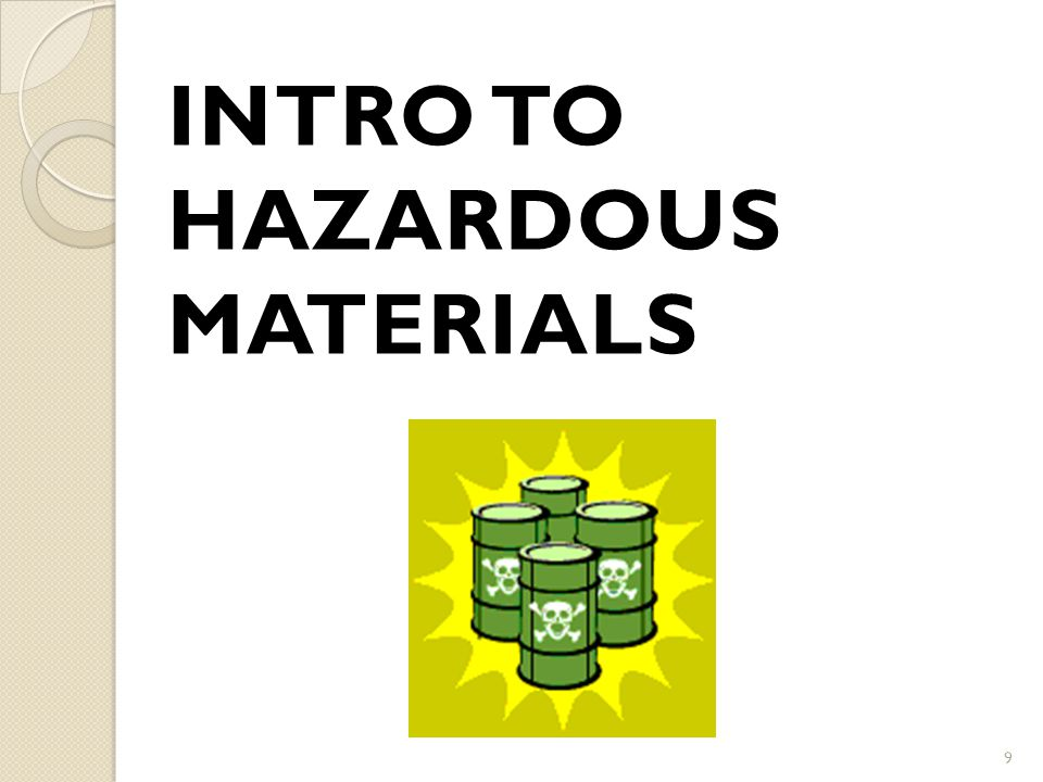 Intro to Hazardous Materials