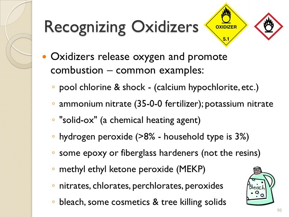 Recognizing Oxidizers