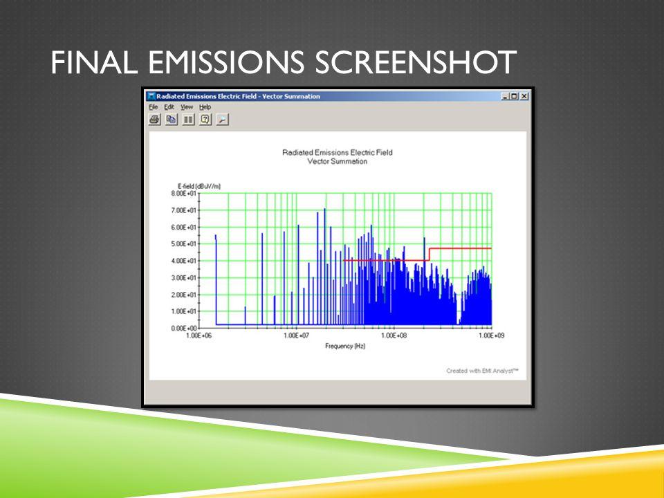 Final Emissions Screenshot